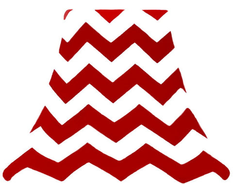 Red Chevron - SLIP COVERS for lampshades
