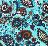 Turquoise Paisley - SLIP COVERS for lampshades
