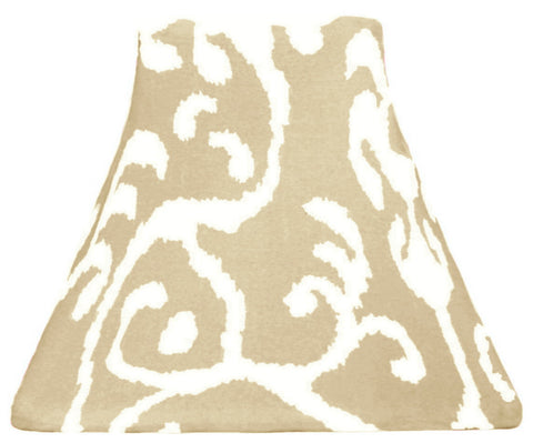 Beige Ikat - SLIP COVERS for lampshades