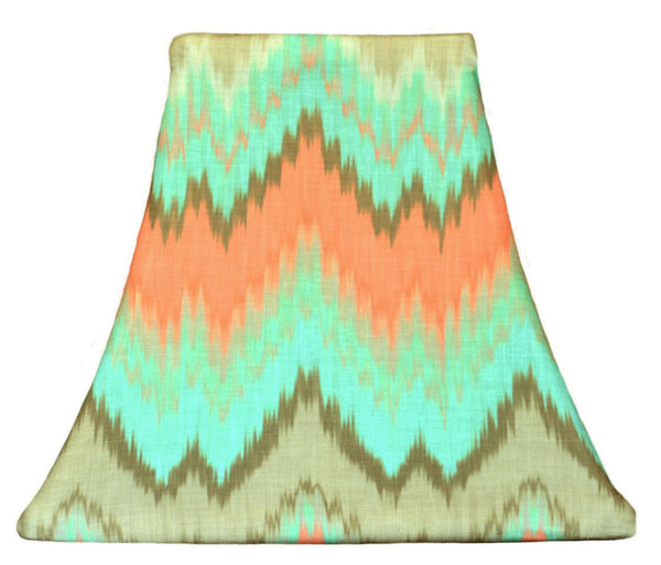 Orange Chevron - SLIP COVERS for lampshades