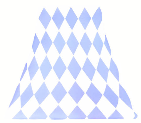 Periwinkle Harlequin - SLIP COVERS for lampshades