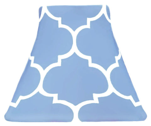 Quatrefoil Cornflower - SLIP COVERS for lampshades