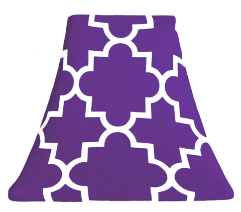 Quatrefoil Grape - SLIP COVERS for lampshades