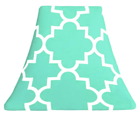 Quatrefoil Mint - SLIP COVERS for lampshades