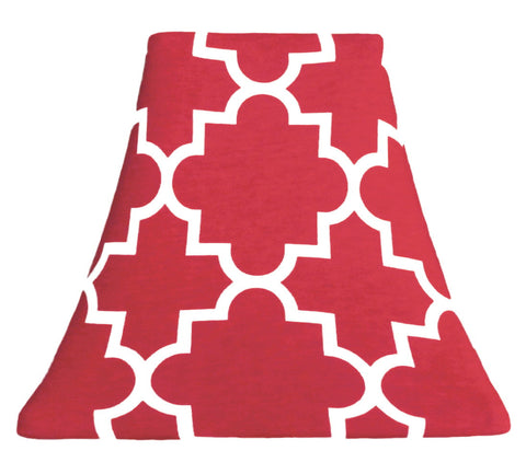 Quatrefoil Red - SLIP COVERS for lampshades