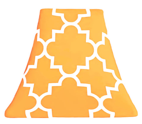 Quatrefoil Mustard - SLIP COVERS for lampshades