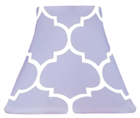 Quatrefoil Violet - SLIP COVERS for lampshades