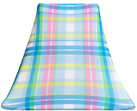 Summer Plaid - SLIP COVERS for lampshades