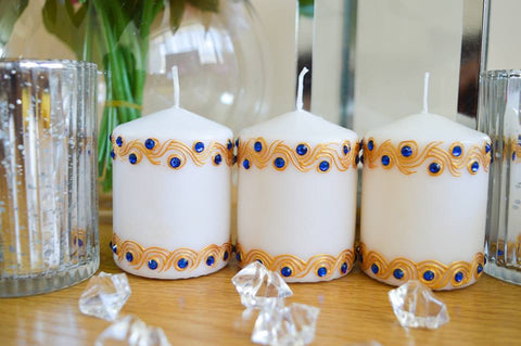 Personalised small candle set