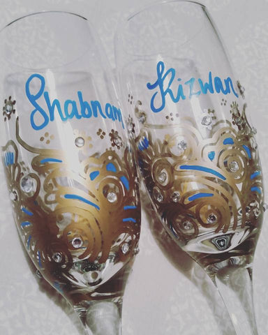 Personalised Champagne Flutes