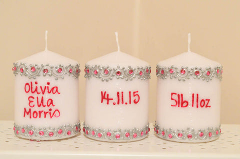 Personalised Baby Candles
