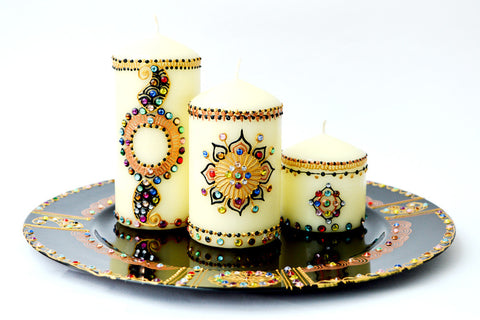 Arabian Nights candle set with charger plate