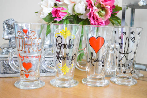 Personalised Latte Glasses