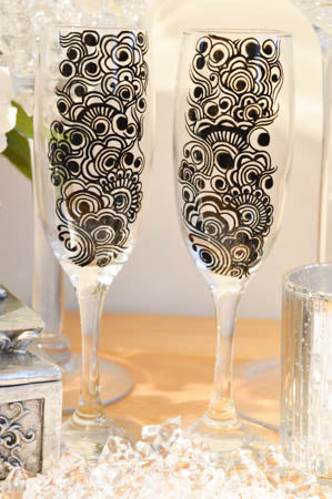 Personalise wine glasses