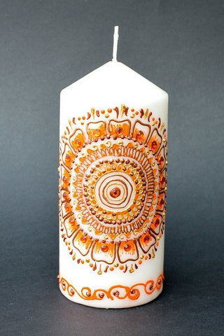 Floral sunset pillar candle