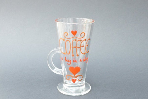 hug in a mug latte glass