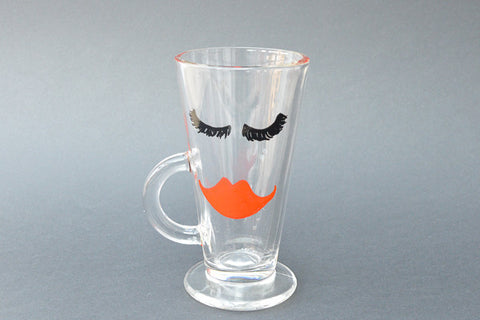 Little miss glamorous latte glass