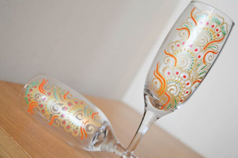 Orange fizz champagne flutes