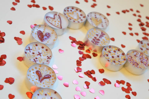 Personalised valentine's day candles