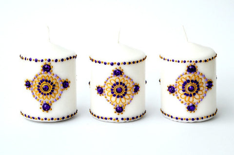 regal rose candle set