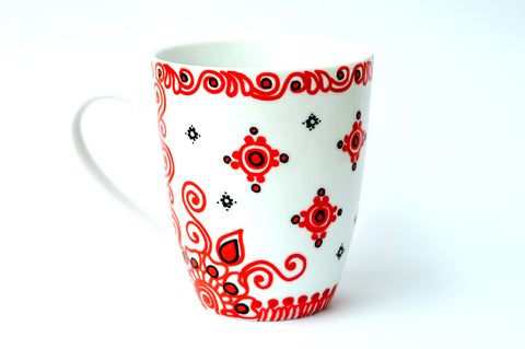 Scarlet swirls personalised mug