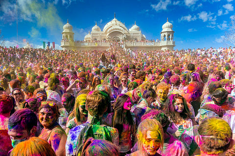 Holi colour festival celebrations
