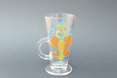 butterfly latte glass