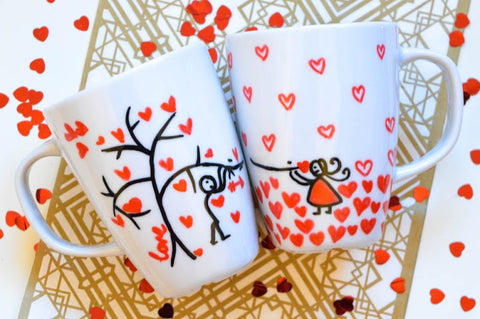 Branching for love mugs