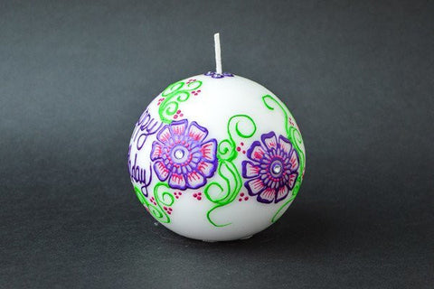 floral craze ball candle