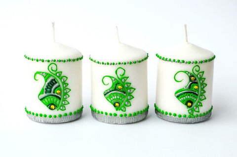frosted forest candles