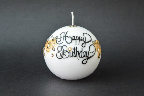 golden ivy ball candle
