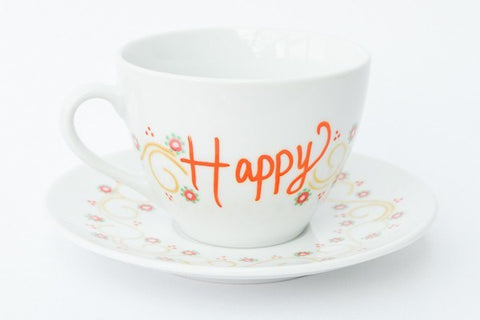 Happy days teacup and saucer set
