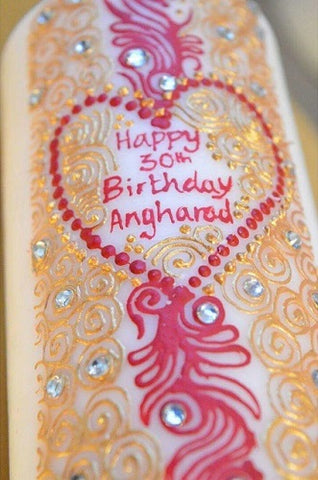 personalised birthday candle