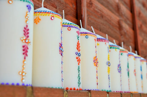 outdoor pillar candles