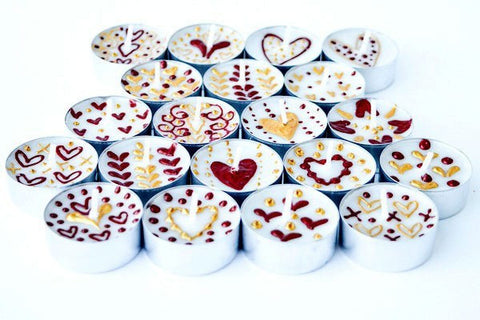 Queen of hearts tea lights