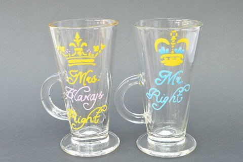 Royal Blend personalised latte glasses
