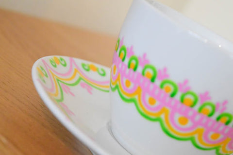 tropical tea cup