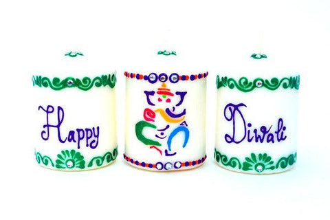 vibrant celebration personalised candle set