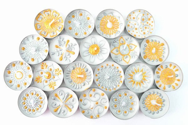 Henna Personalised Tealights - Sweet Opulence (Pack Of 20 Assorted)