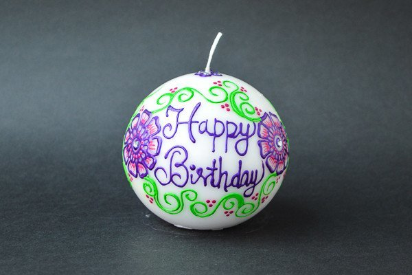 Personalised Ball Henna Candles - Floral Craze