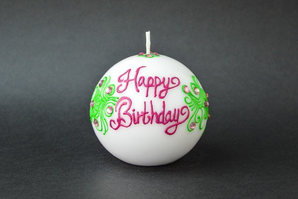 Personalised Ball Henna Candles - Lime Blush