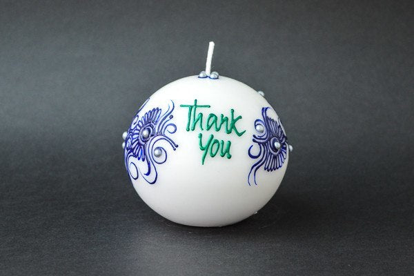 Personalised Ball Henna Candles - Ocean Pearl