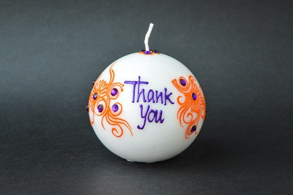 Personalised Ball Henna Candles - Orchid Fire