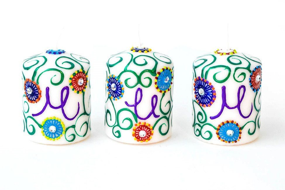 Personalised Candle Sets - Flower Party