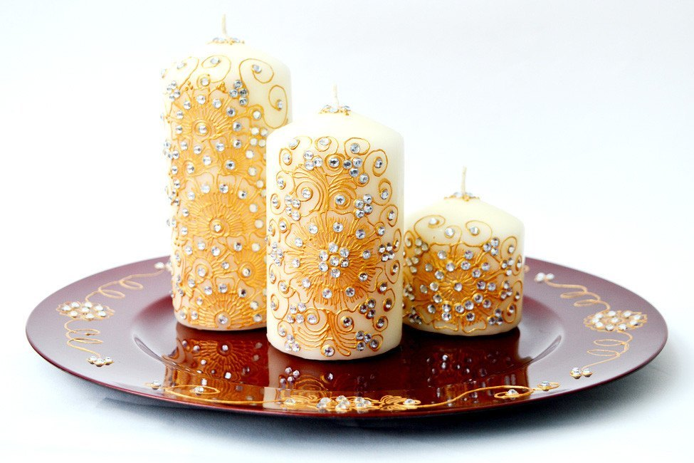 Personalised Candle Sets - Golden Lust