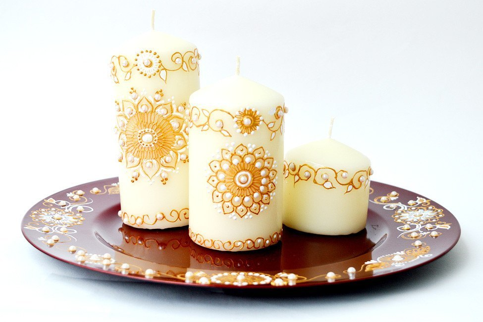 Personalised Candle Sets - Mother Of Pearl