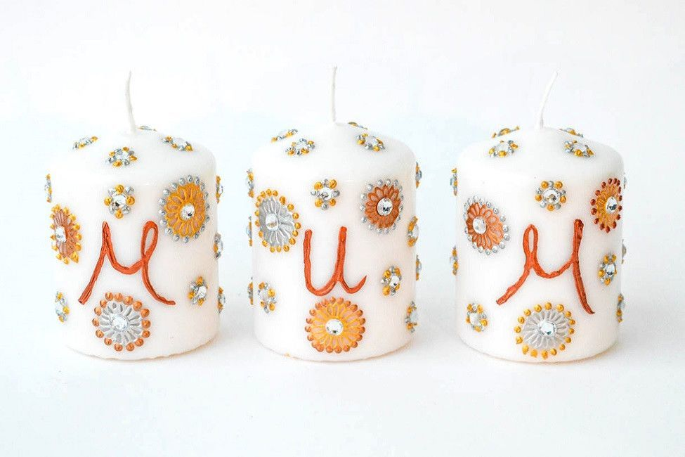 Personalised Candle Sets - Paisley Sparkle
