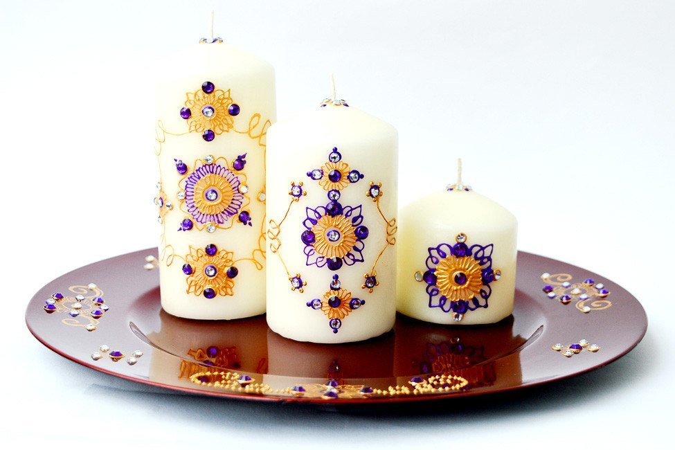 Personalised Candle Sets - Purple Odyssey