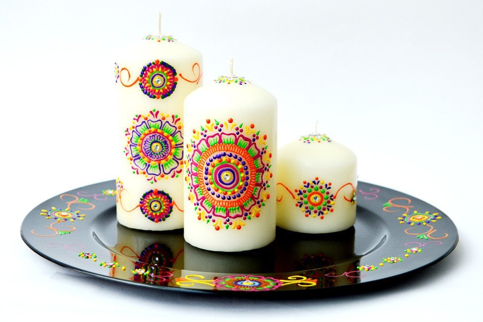 Personalised Candle Sets - Rainbow Drops