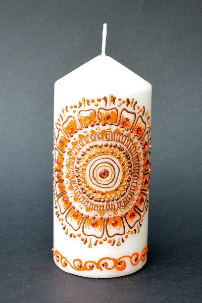 Personalised Henna Candles - Floral Sunset